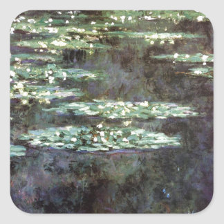 Water Lilies Square Sticker