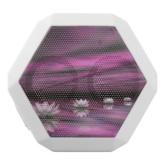 Water lilies steps the horizon - 3D render White Bluetooth Speaker