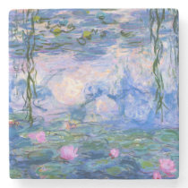 Water Lilies Stone Coaster