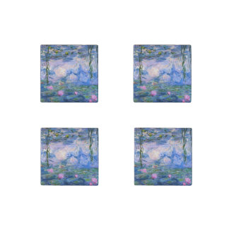 Water Lilies Stone Magnet