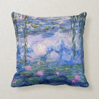 Water Lilies Throw Pillows