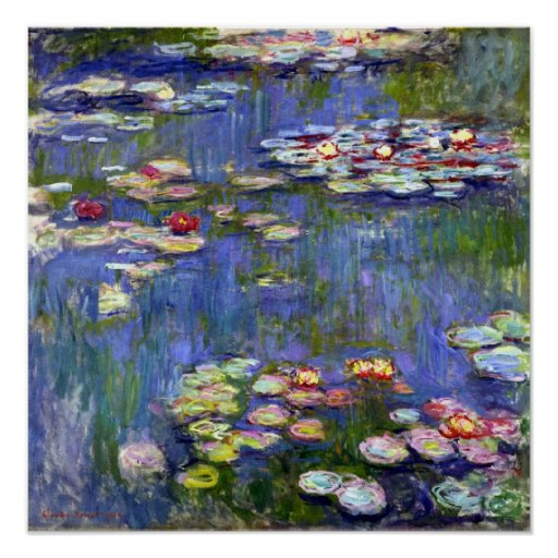 Water Liliy Pond Claude Monet Fine Art Poster