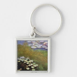 Water-Lillies: 1914-17 by Monet Silver-Colored Square Keychain