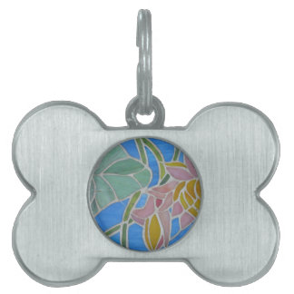 Water Lillies 2 Pet Tags
