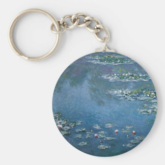Water Lillies by Claude Monet Basic Round Button Keychain