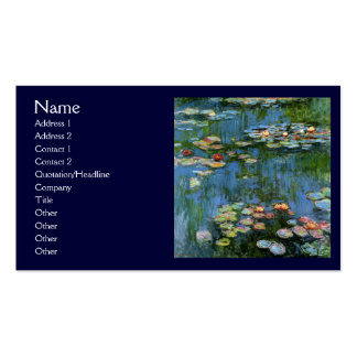 Water Lillies by Monet Business Cards