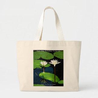 Water lillies, El Golfete, Guatemala Large Tote Bag