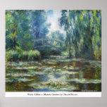 Water Lillies in Monets Garden by Claude Monet Print