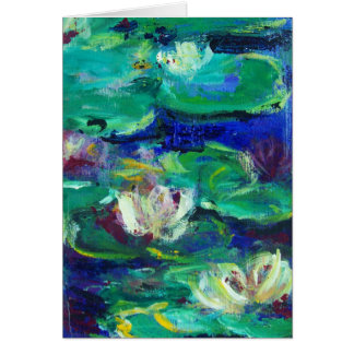 """""""Water Lillies"""" like Claude Cards"""