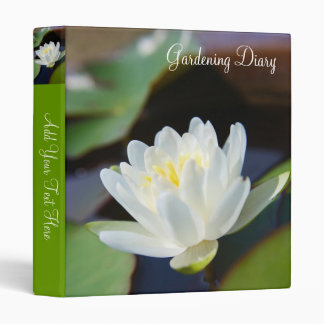 Water Lilly 3 Ring Binder