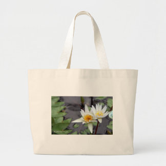 Water Lilly Canvas Bags