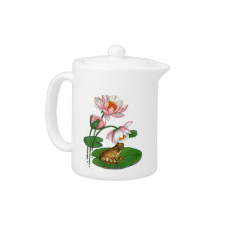 Water Lilly Frog Teapot
