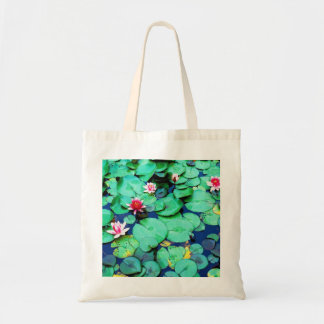 WATER LILLY PADS TOTE BAGS