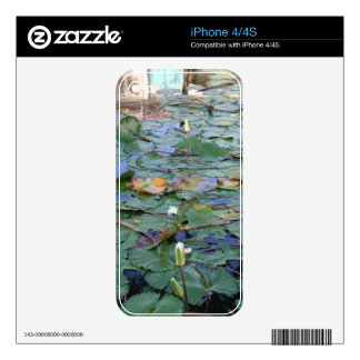 Water Lilly Skin For iPhone 4