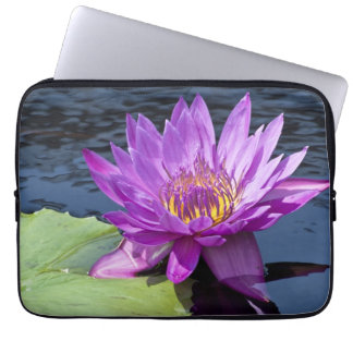 """Water Lily 13"""" or 14"""" Laptop Sleeve"""