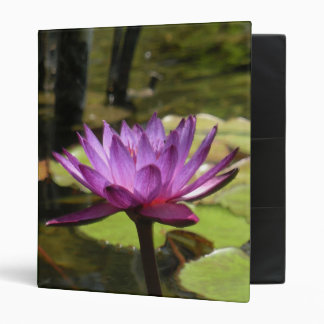 """Water Lily 1"""" Binder"""