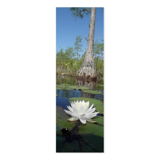 Water Lily 2 Bookmark Business Card Templates