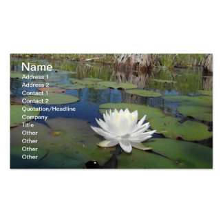 Water Lily 2 Business Card Template