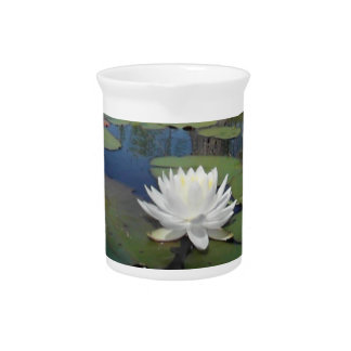 Water Lily 2 Drink Pitcher