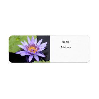 Water Lily 2 Return Address Label