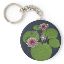 Water Lily and Dragonfly Keychain