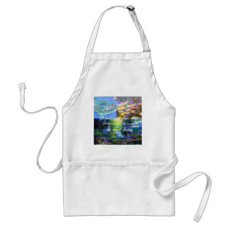 Water lily and Monet fascination. Adult Apron