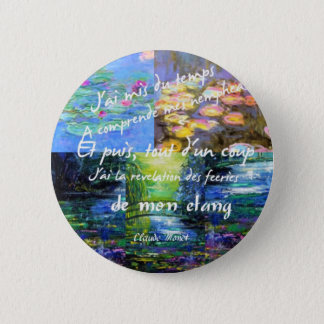 Water lily and Monet fascination. Button