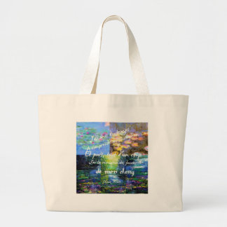 Water lily and Monet fascination. Large Tote Bag