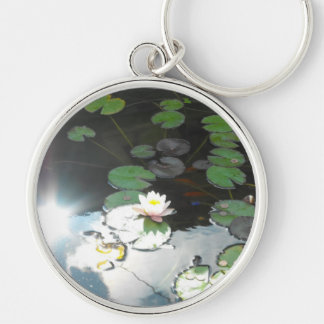 Water Lily and Sun Keychain