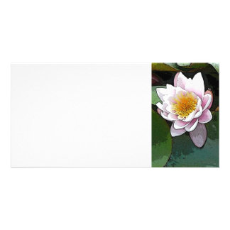 Water Lily Art Photo Card