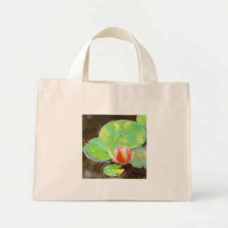 Water Lily art photo tote bag