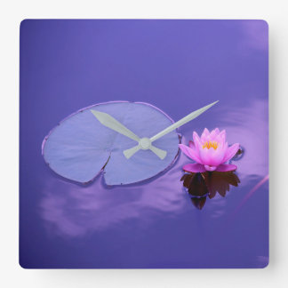Water Lily at Dawn Clock