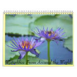 water lily calender wall calendar