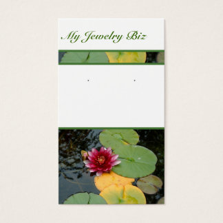 Water Lily Earring Cards