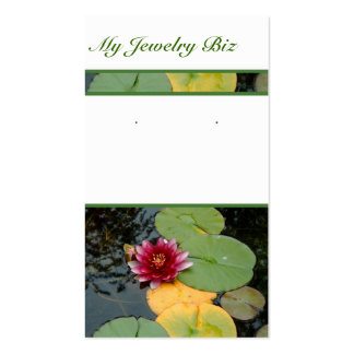 Water Lily Earring Cards Business Card