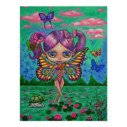 Water Lily Fairy Poster