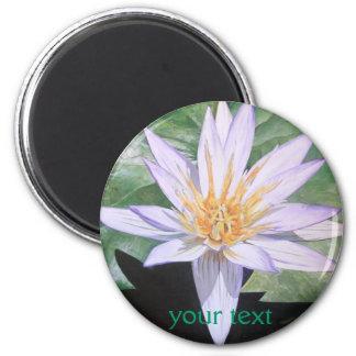 Water Lily Fine Art 2 Inch Round Magnet