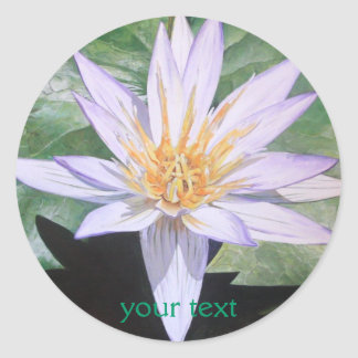 Water Lily Fine Art Classic Round Sticker