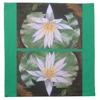 Water Lily Fine Art Cloth Napkin