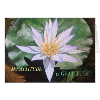 Water Lily Fine Art Gratitude Card