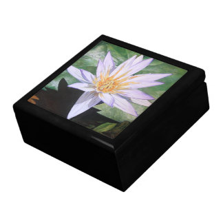 Water Lily Fine Art Jewelry Box