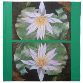 Water Lily Fine Art Printed Napkins