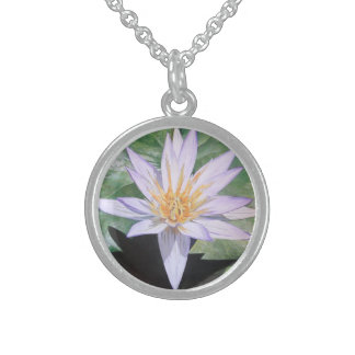 Water Lily Fine Art Sterling Silver Necklaces
