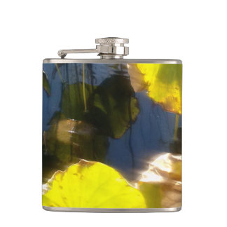 Water Lily Flax Hip Flask