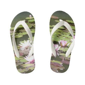 Water lily flip flops