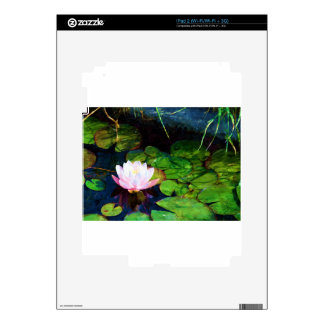 Water lily floating in a pond decals for the iPad 2
