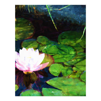 Water lily floating in a pond letterhead