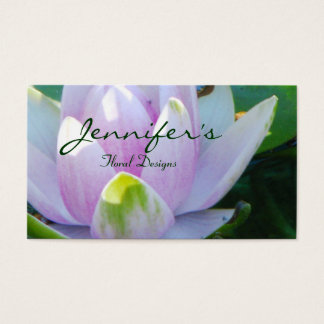 Water Lily Floral Design Business Card