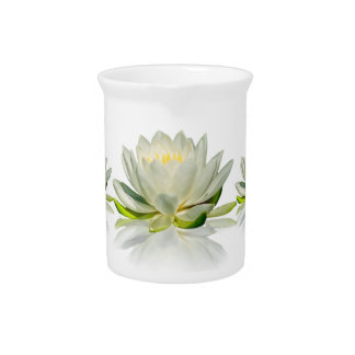 Water Lily Floral Pitcher Customizable