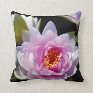 Water Lily Floral Throw Pillow